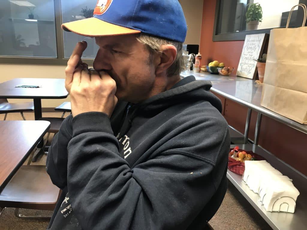 Andy playing harmonica